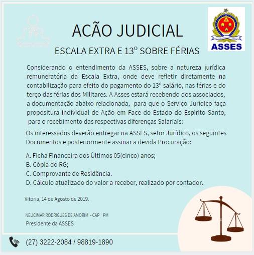 AÇÃO JUDICIAL – 13º SALARIO