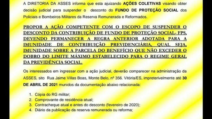 FUNDO DE PROTEÇAO SOCIAL – FPS
